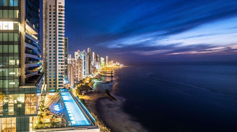Fin de Año Cartagena vista nocturna