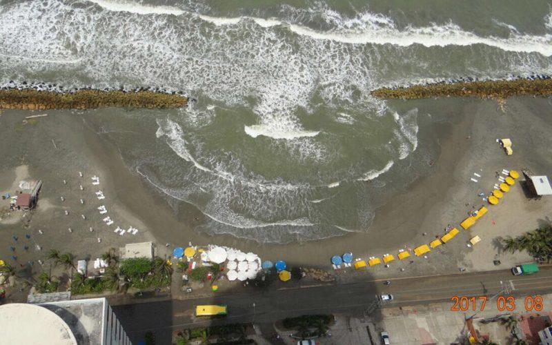 vista a la playa de bocagrande desde el balcon del apartamento 3604 del edificio palmetto en cartagena