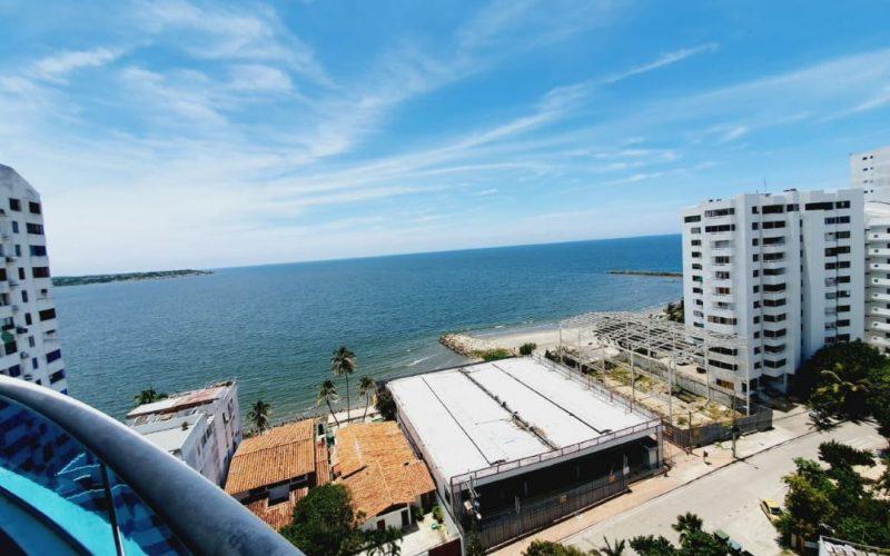 balcon con vista al mar de cartagena